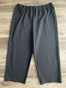 Eileen Fisher Cropped Taper Pull On Pants Casual Black Womens Plus Size 3x Xxxl