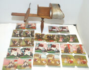Antique Kawin And Co Chicago 1904 Wood Stereoscope Stereograph Viewer +color Cards