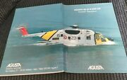 Agusta As 61-r Hh-3f Helicopter Prestige Brochure 1984