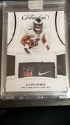 Panini Flawless Jalen Hurts 3/3 Nike Laundry Tag Nfl Shield Rc Eagles