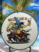 Rat Fink Wild Child Porcelain Sign Gas Oil Ed Roth Monster Ice Cream Dairy Queen