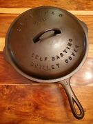 Griswold Cast Iron Skillet 9, Lbl, Epu, 710a With Matching Lbl Lid 469
