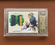 2018 Flawless Dan Marino Game Used Patch Autograph Auto /5 Bgs 9.5 Gem Mint