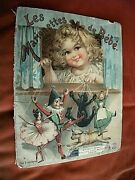 Les Marionettes De Bebe Baby Puppets. Illustrated Victorian Childrens Book
