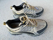 New Skechers Extra Wide Tan And Black, Leather And Mesh, Shoes.men's 10 Wide
