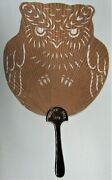 1893 Chicago Worlds Fair Owl Die-cut Fan - Hard To Find In This Good Shape