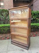 Antique Oak Macey Barrister Lawyers Bookcase