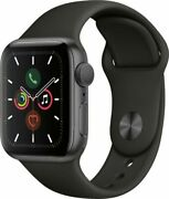 Apple Watch Series 5 A2093 44mm Space Gray Alluminum Black Band Mwvf2ll/a