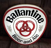 Vintage Double Sided Ballantine Beer And Ale Pub Advertising Light Up Clock And Sign