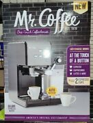 Mr. Coffee One-touch Coffeehouse Espresso And Cappuccino Machine Dark Stainless