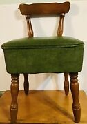 Vintage Mid Century Sewing Chair Seat Storage Used In Hgtv Show Home Again Fords
