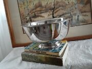 Vintage Paul Revere Reproduction Silver-plated Pedestal Bowl By Oneida