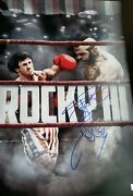 Slyvester Stallone Autographed Rocky Lll Poster Authentic Signings Authenticatio