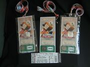 3 Tampa Buccaneers Commemorative Tickets 2011 Jimmie Giles Ring Of Honor Coins