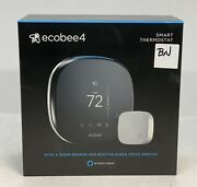 Ecobee4 Smart Thermostat With 1 Room Sensor And Built In Alexa Voice Service