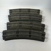 8 Pieces American Flyer S Gauge 727 Curved Wide Tie Rubber Roadbed W Track