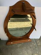Vintage Tell City Andover Maple Oval Wall Mirror