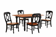 Sunset Trading Black 5 Piece Butterfly Leaf Dining Set Dlu-tlb3660-c50-bch5pc