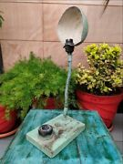 Vintage Old Electric Iron Made Light Table Desk Lamp With On/off Toggle Switch