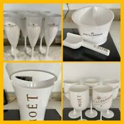 💋moet And Chandon Champagne Summer Bbq Ice Bucket And Flutes Set💋