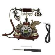 Vintage Retro Telephone Corded Rotary Dial Antique Landline Phone With