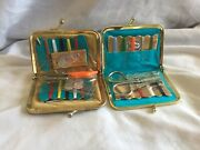 2 Small Vintage Sewing Kits In Purses Different Designs