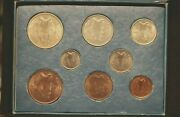 Ireland 1928 Coin Set 1st Year Issued Farthing To Half Crown Irish Free State