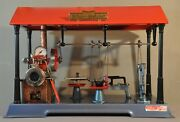 Vintage Wilesco D141 Steam Engine With Complete Replica 19th Century Workshop