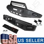 For Ford F 150 15-17 Rear+front Bumper Guard Assembly + Led Lights High-quality