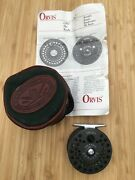 Orvis Cfo 123 Fly Reel With Original Case, Fly Line, And Leaflet-made In England
