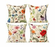 Outdoor Patio Throw Pillow Covers Summer Spring Garden Flowers High Quality