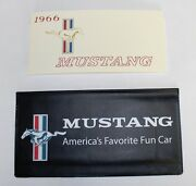 New 1966 Ford Mustang Owners Manual And Wallet Cover Free Shipping