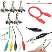 Tbestmax 50 Pcs 5 Colors Alligator Clips Test Lead Set 50cm/19 Inches 5 Pack