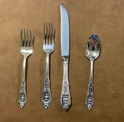 Wallace Rose Point Sterling Silver 4pc Place Setting