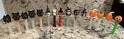 Pez Dispensers Holiday Halloween Lot Of 15 Witches Pumpkins Skulls Vtg