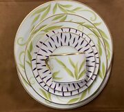 Bernardaud Frivole 5pc Place Setting + Dinner, Salad, And Bread And Butter Plate