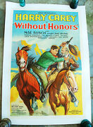 1932 Harry Carey Without Honor Original One Sheet Movie Poster