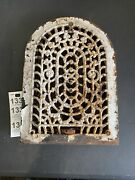 Antique Victorian Cast Iron Wall Heat Vent Damper Hardware Heater Cover
