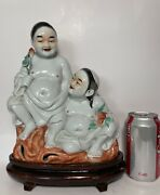 Chinese Antique Porcelain Figure Two Brothers Hehe Er Xian
