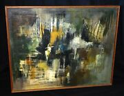 1970s California Oil Abstract Painting By Dorothy Saxon Wegner New