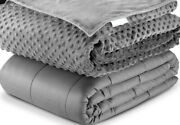 Weighted Blanket W/ Removable Duvet Cover Deep Sleep 60and039and039x80 42x78 15 20 25lb