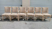 Vintage Set Of 6 Fret Work Dining Room Chairs