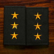 1 Pair Captain Rank Royal Thai Army Corps Soldier Shoulder Boards Fabric Pair