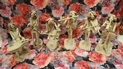 Vintage Collectible Signed Dino Bencini Italy6 Six Musicians Art Sculptures