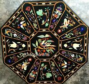 48 Inches Hand Made Nature Art Marble Table Top Octagon Shape Dining Table Top
