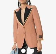 Cotton Viscose Blazer Faille Jacket-with Tags- Rrp6500 Aud
