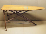 Antique Wooden Ironing Board Folding Table Primitive Mid-century Vtg 45x14x32