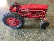 Red Hubley Tractor 1950s Toy Four Wheels Die-cast Metal Farm Vehicle Toys