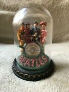 The Beatles Sgt. Pepper Franklin Mint Glass Domed Music Box. Very Good Cond.