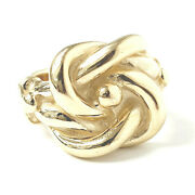 9ct Gold Knot Ring Solid Menand039s Yellow 31.3g Brand New 20mm Wide Size Z